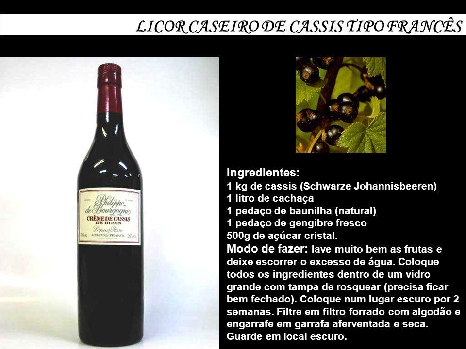 LICOR CASEIRO DE CASSIS TIPO FRANCÊS