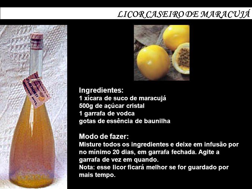 LICOR CASEIRO DE MARACUJÁ