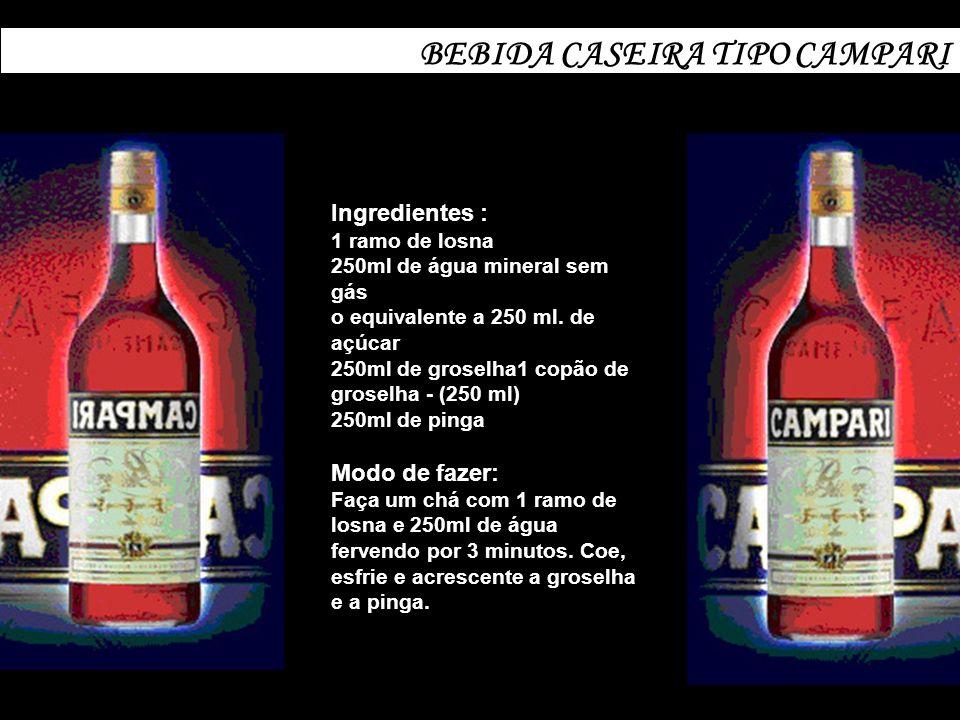 BEBIDA CASEIRA TIPO CAMPARI