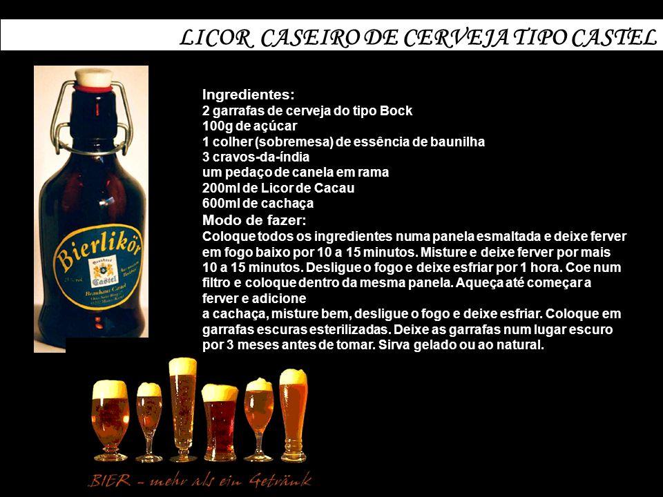 LICOR CASEIRO DE CERVEJA TIPO CASTEL