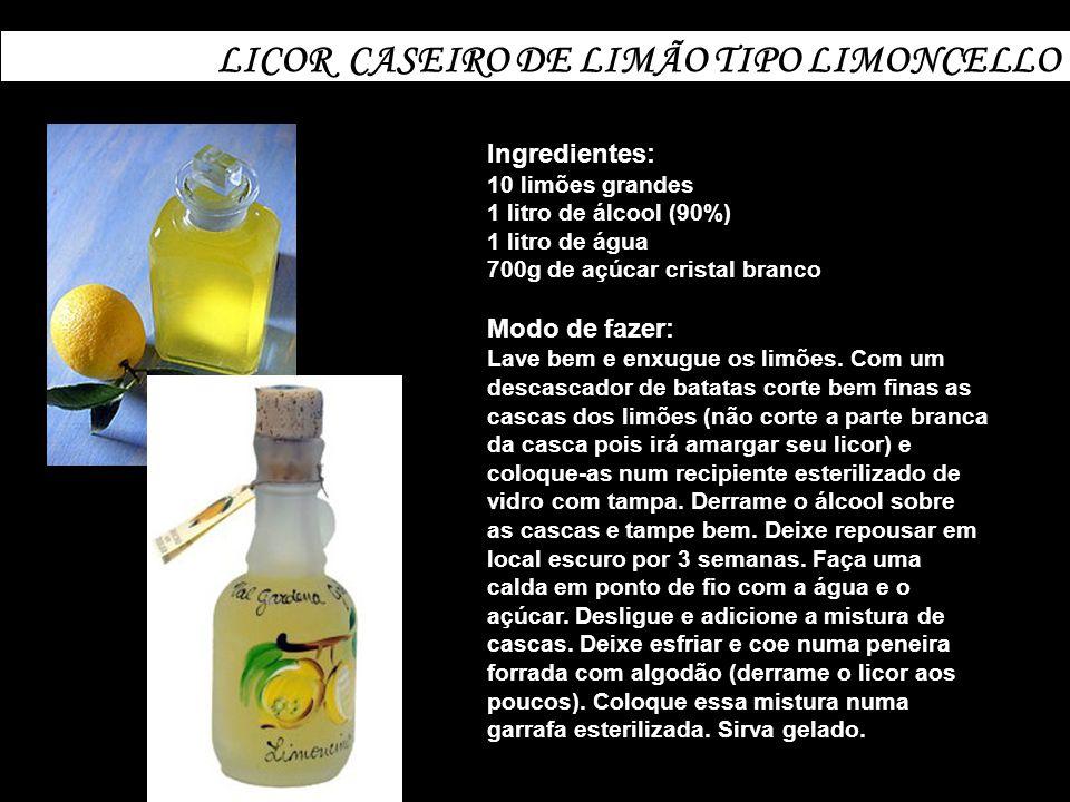 LICOR CASEIRO DE LIMÃO TIPO LIMONCELLO
