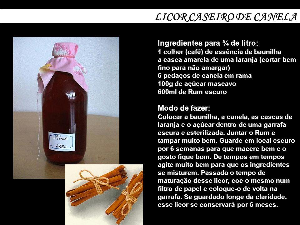 LICOR CASEIRO DE CANELA