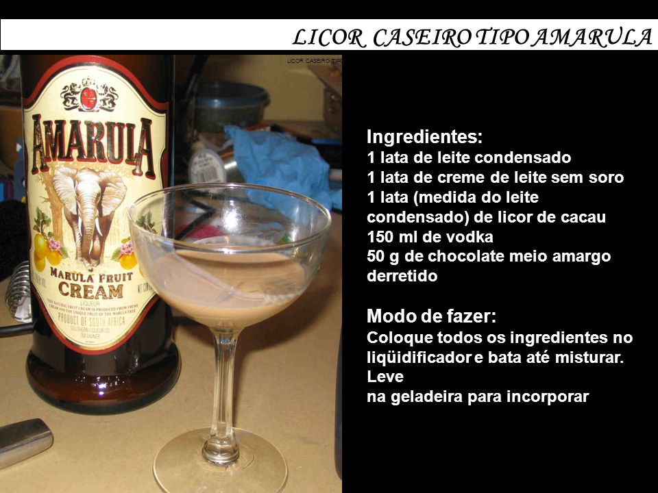 LICOR CASEIRO TIPO AMARULA