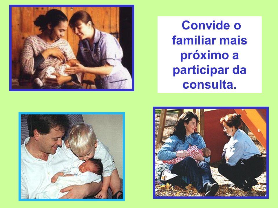 Convide o familiar mais próximo a participar da consulta.