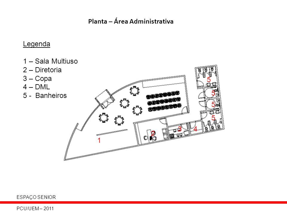 Planta – Área Administrativa