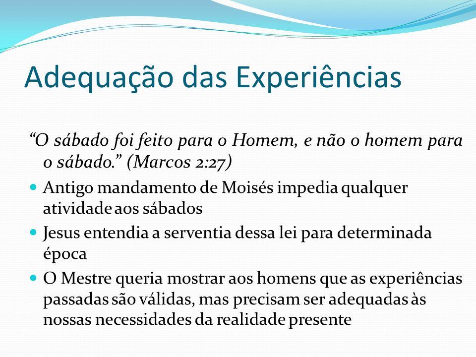 Adequação das Experiências