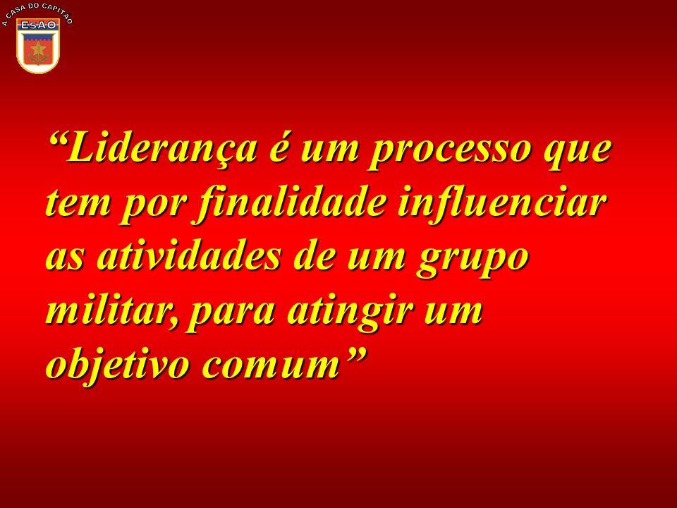 A CASA DO CAPITÃO Liderança é um processo que tem por finalidade influenciar as atividades de um grupo militar, para atingir um objetivo comum