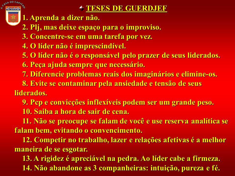 A CASA DO CAPITÃO TESES DE GUERDJEF 1. Aprenda a dizer não.