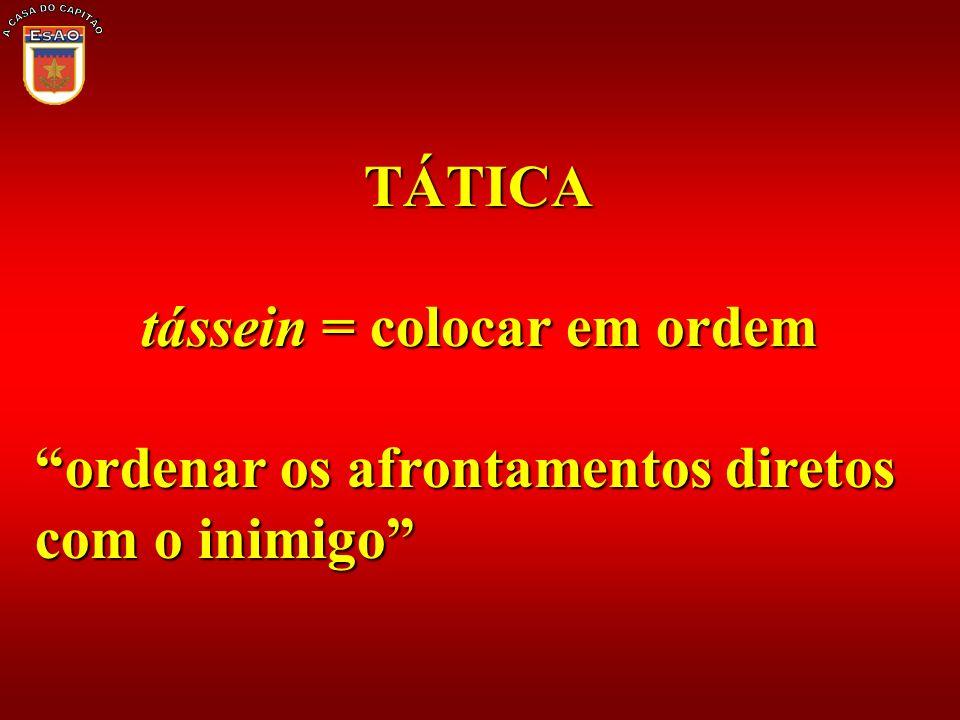 tássein = colocar em ordem