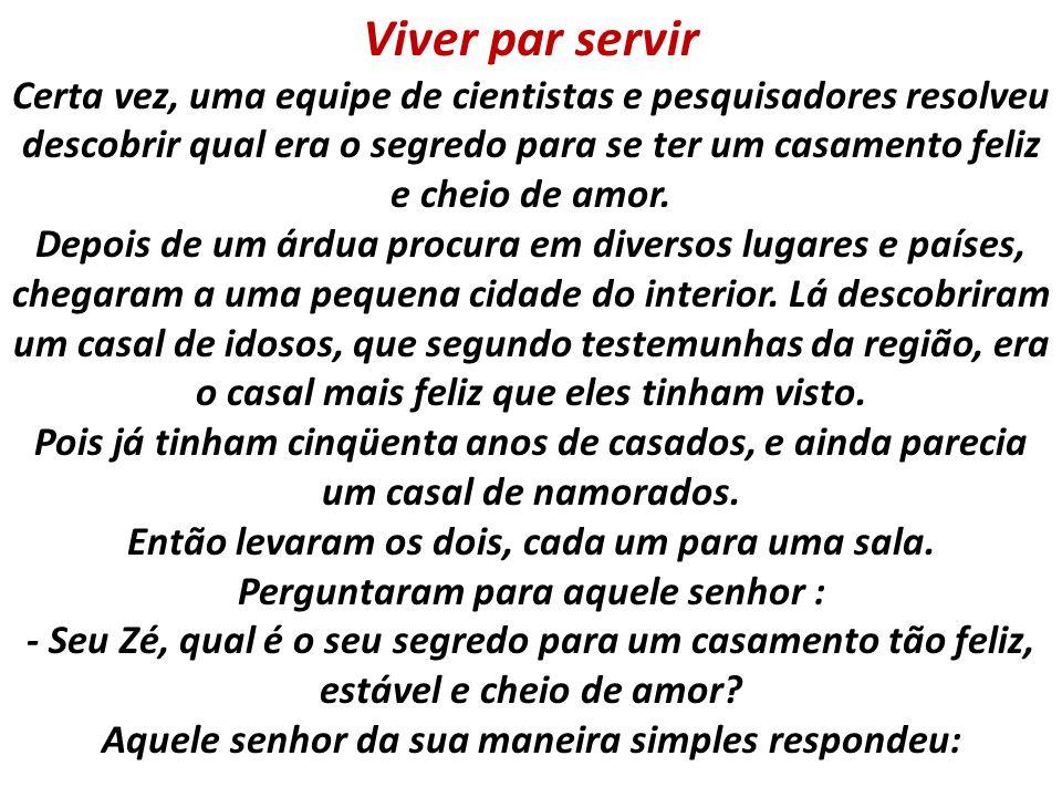 Viver par servir