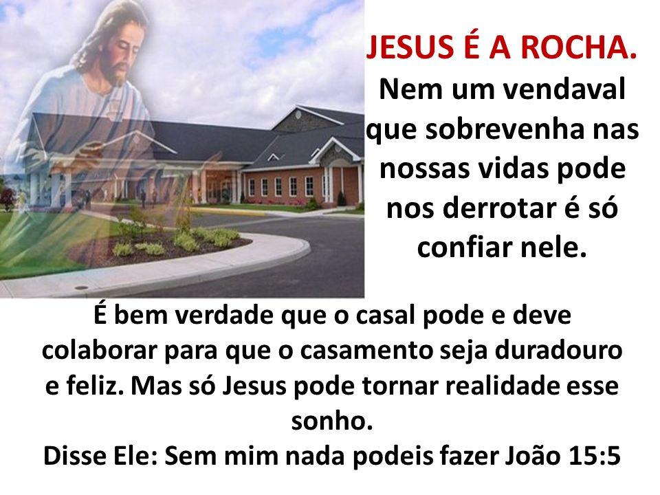 Disse Ele: Sem mim nada podeis fazer João 15:5