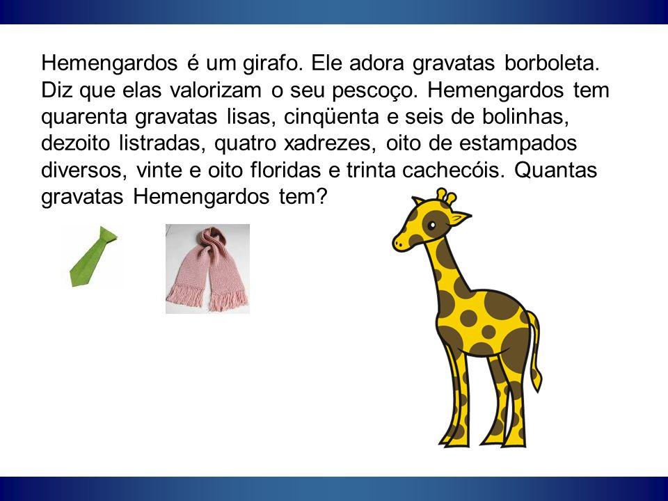 Hemengardos é um girafo. Ele adora gravatas borboleta