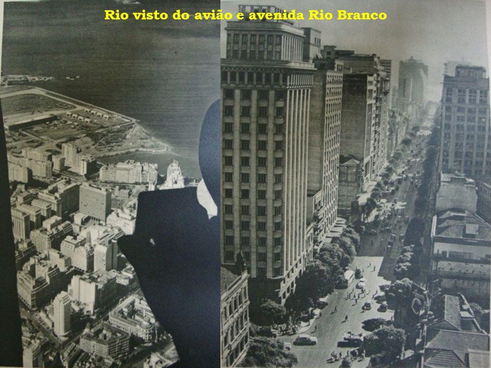 Rio visto do avião e avenida Rio Branco