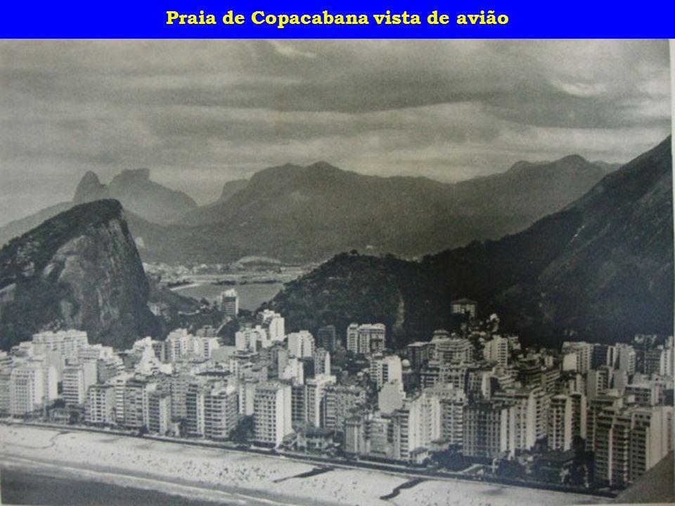 Praia de Copacabana vista de avião
