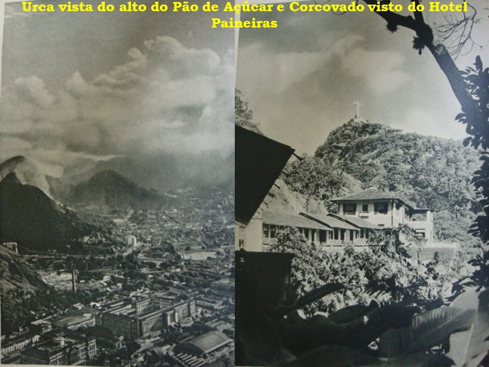Urca vista do alto do Pão de Açúcar e Corcovado visto do Hotel Paineiras