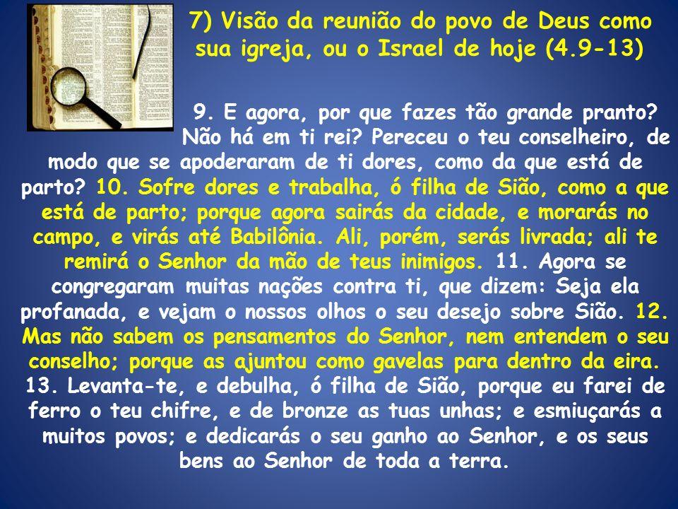 7) Visão da reunião do povo de Deus como