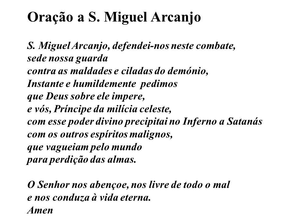 Oração a S. Miguel Arcanjo