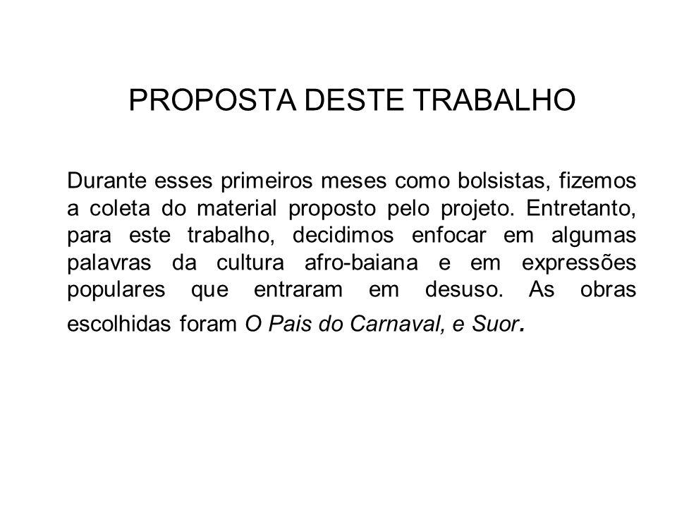 PROPOSTA DESTE TRABALHO