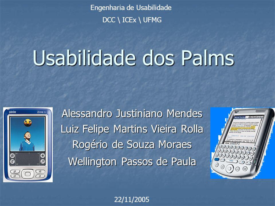 Usabilidade dos Palms Alessandro Justiniano Mendes
