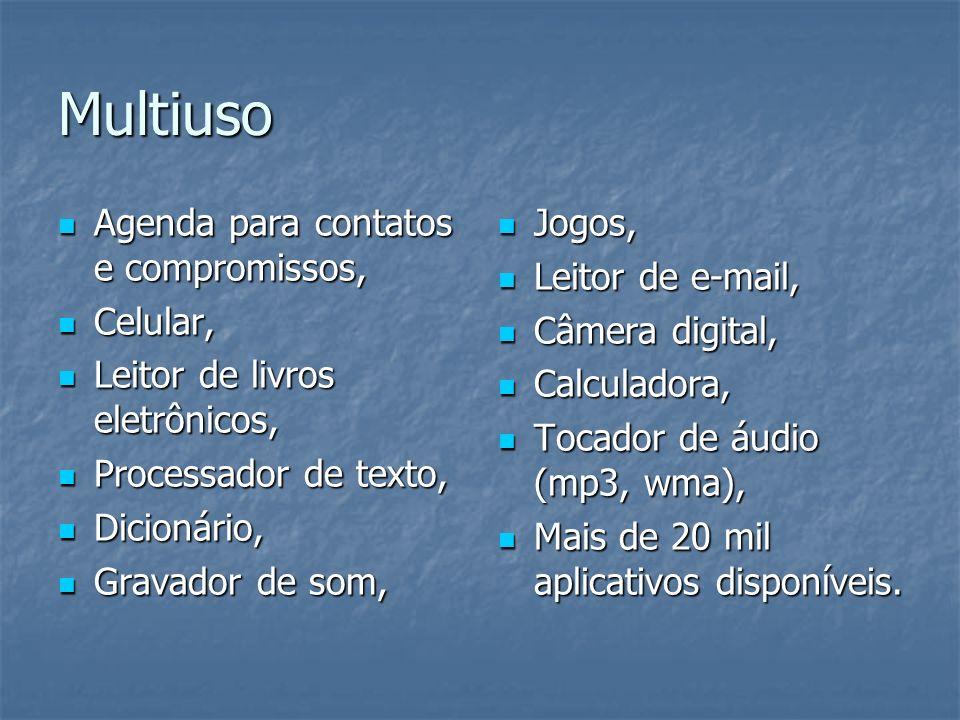 Multiuso Agenda para contatos e compromissos, Celular,