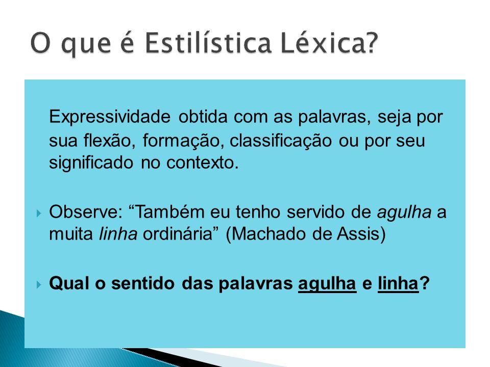 O que é Estilística Léxica
