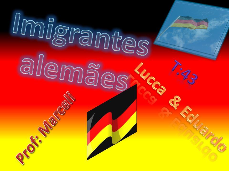 Imigrantes alemães T:43 Lucca & Eduardo Prof: Marceli