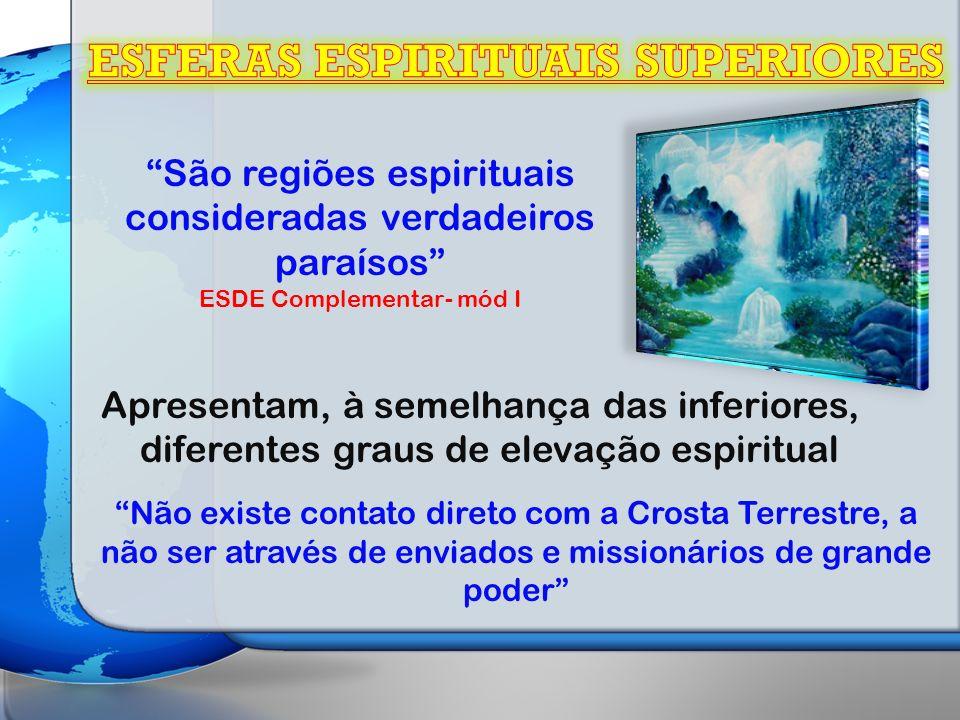 ESFERAS ESPIRITUAIS SUPERIORES