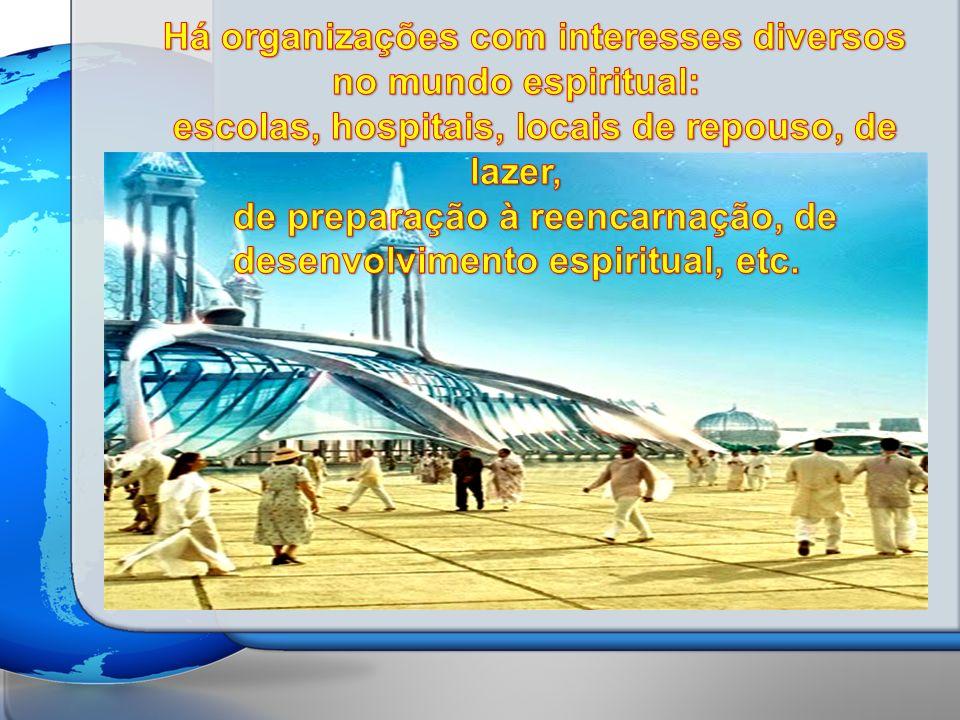 Há organizações com interesses diversos no mundo espiritual:
