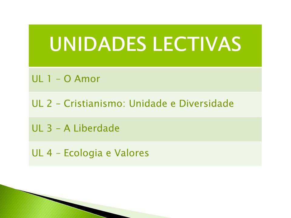 UNIDADES LECTIVAS UL 1 – O Amor