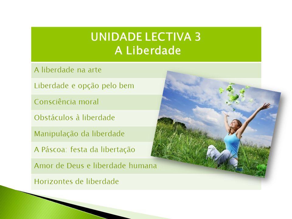 UNIDADE LECTIVA 3 A Liberdade