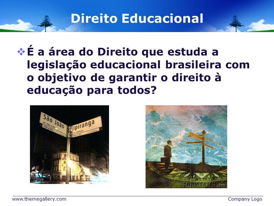 Direito Educacional É a área do Direito que estuda a legislação educacional brasileira com o objetivo de garantir o direito à educação para todos