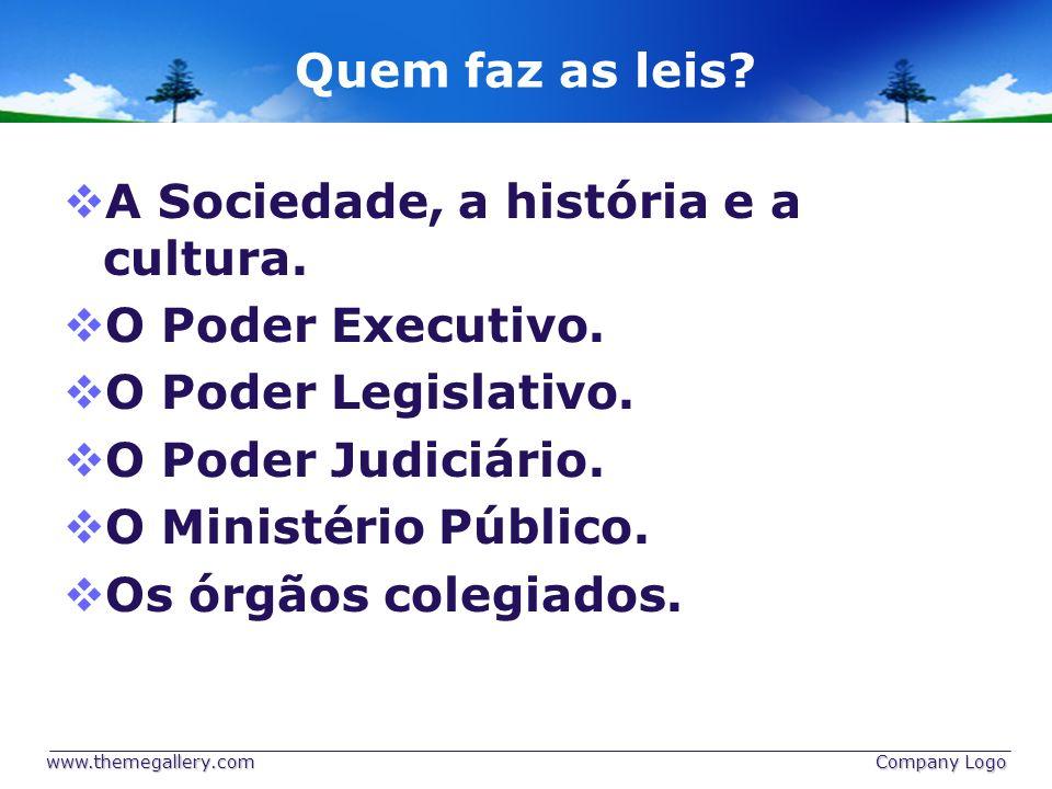 A Sociedade, a história e a cultura. O Poder Executivo.