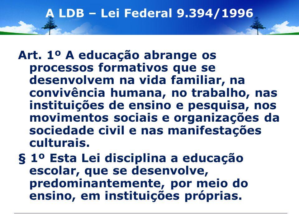 A LDB – Lei Federal 9.394/1996