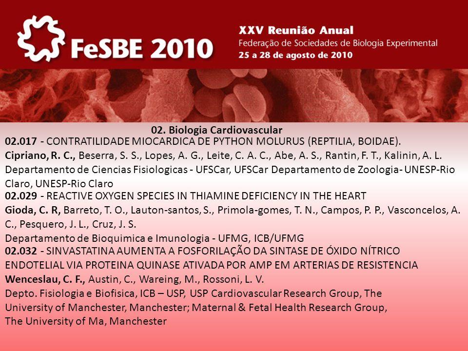 02. Biologia Cardiovascular