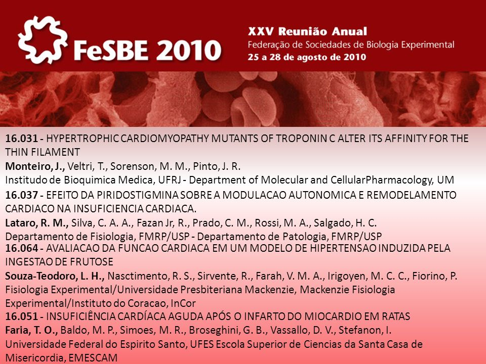 16.031 - HYPERTROPHIC CARDIOMYOPATHY MUTANTS OF TROPONIN C ALTER ITS AFFINITY FOR THE THIN FILAMENT