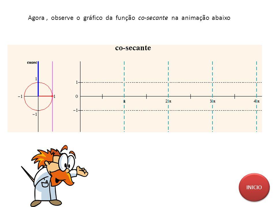 Agora , observe o gráfico da função co-secante na animação abaixo
