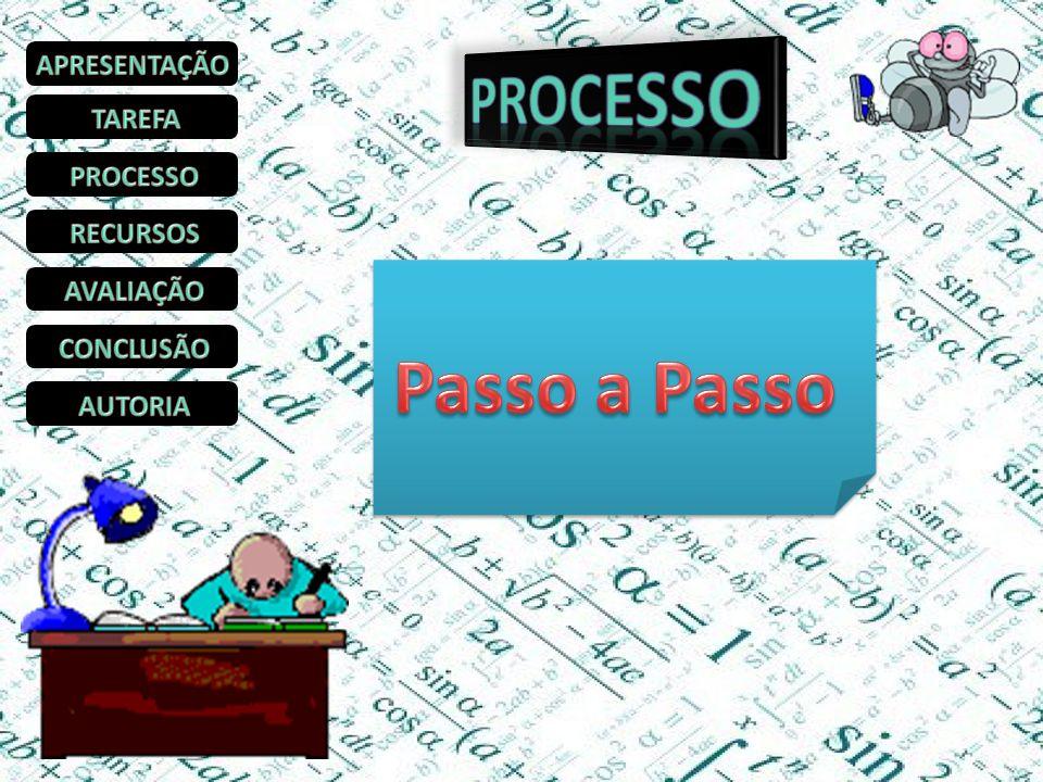 PROCESSO Passo a Passo APRESENTAÇÃO TAREFA PROCESSO RECURSOS AVALIAÇÃO