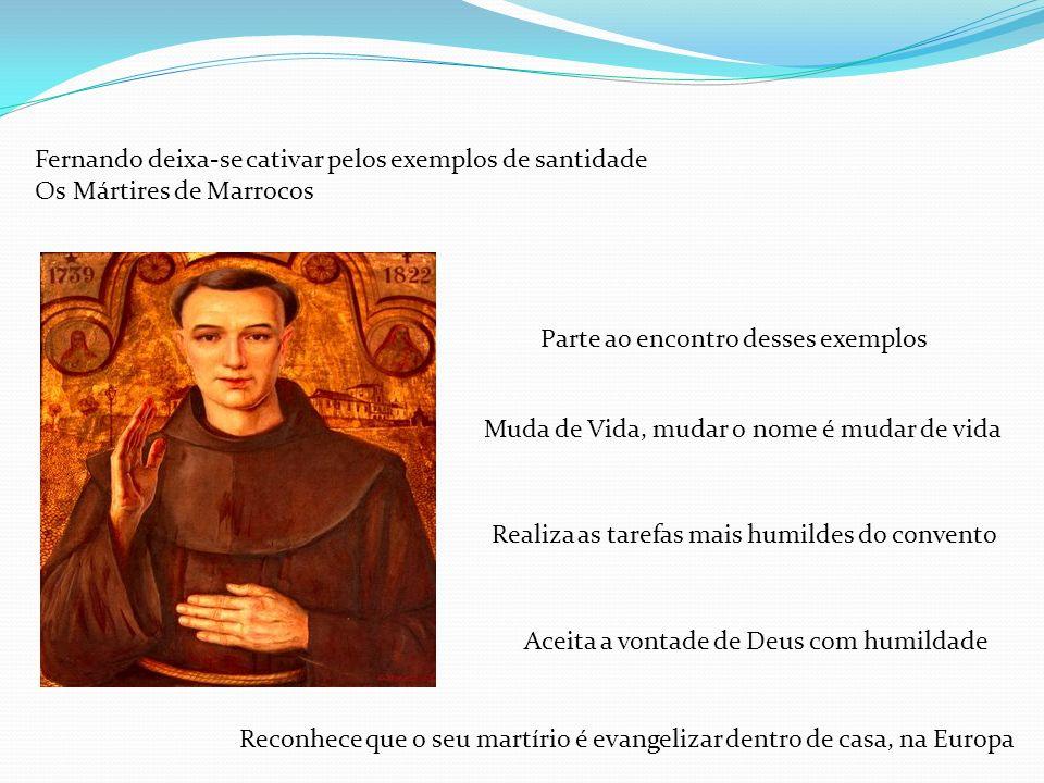 Fernando deixa-se cativar pelos exemplos de santidade