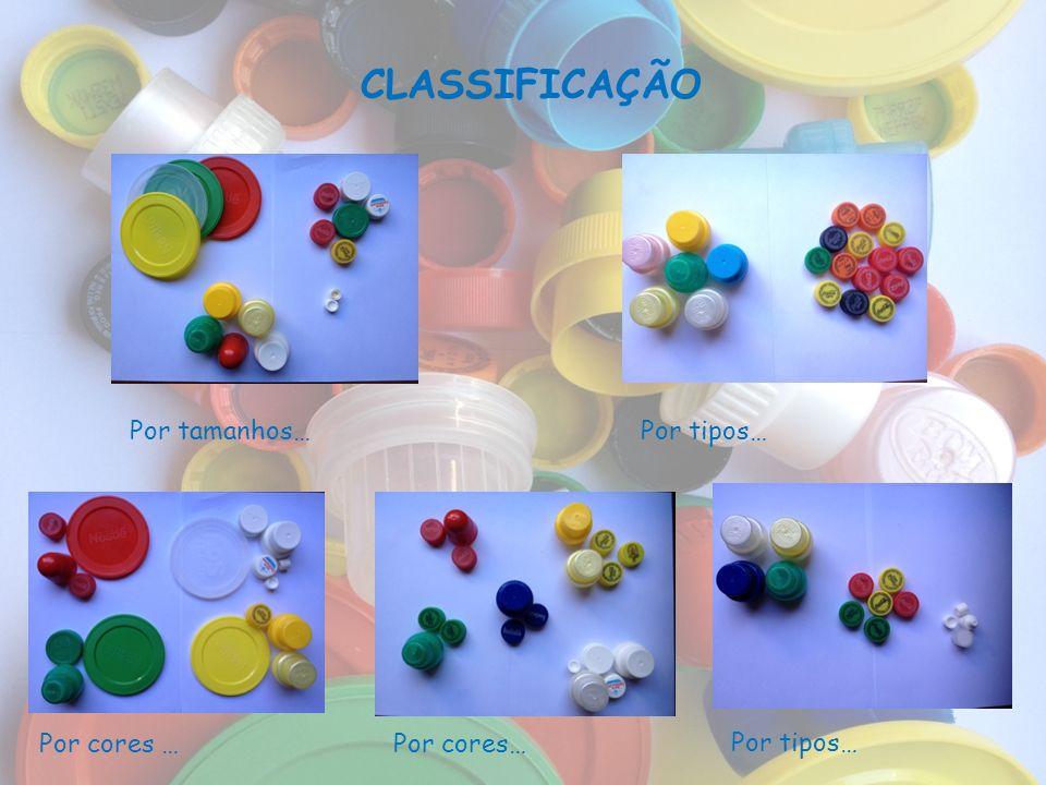 CLASSIFICAÇÃO Por tamanhos… Por tipos… Por cores … Por cores…
