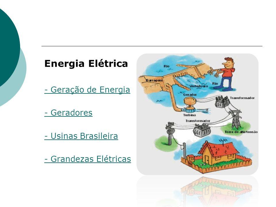 Energia Elétrica - Geração de Energia - Geradores - Usinas Brasileira