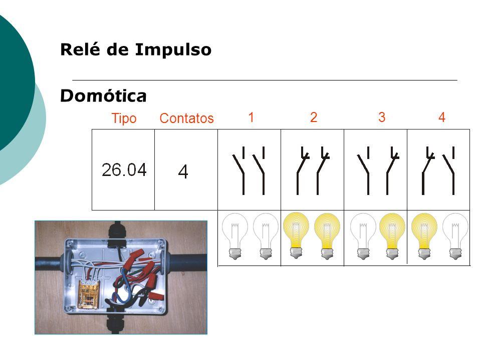 Relé de Impulso Domótica Tipo Contatos 1 2 3 4
