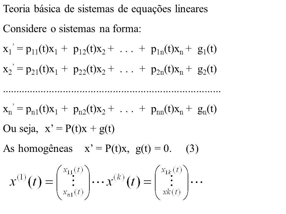 Teoria básica de sistemas de equações lineares