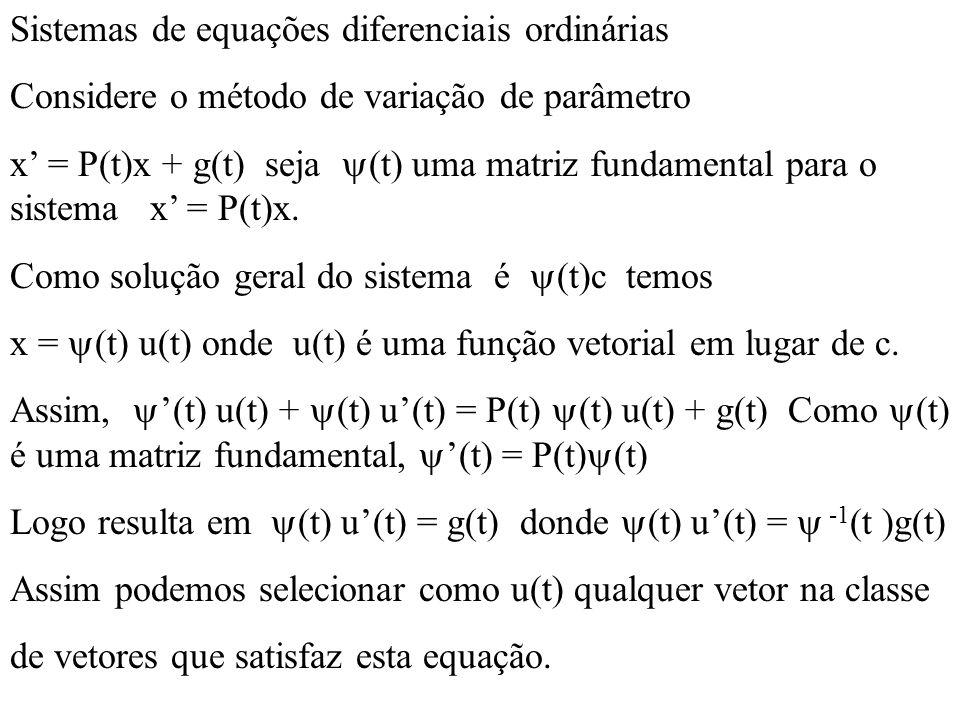 Sistemas de equações diferenciais ordinárias