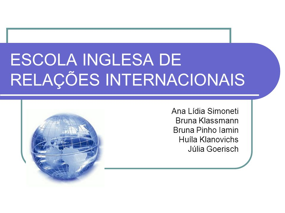 ESCOLA INGLESA DE RELAÇÕES INTERNACIONAIS