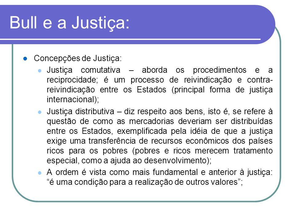 Bull e a Justiça: Concepções de Justiça: