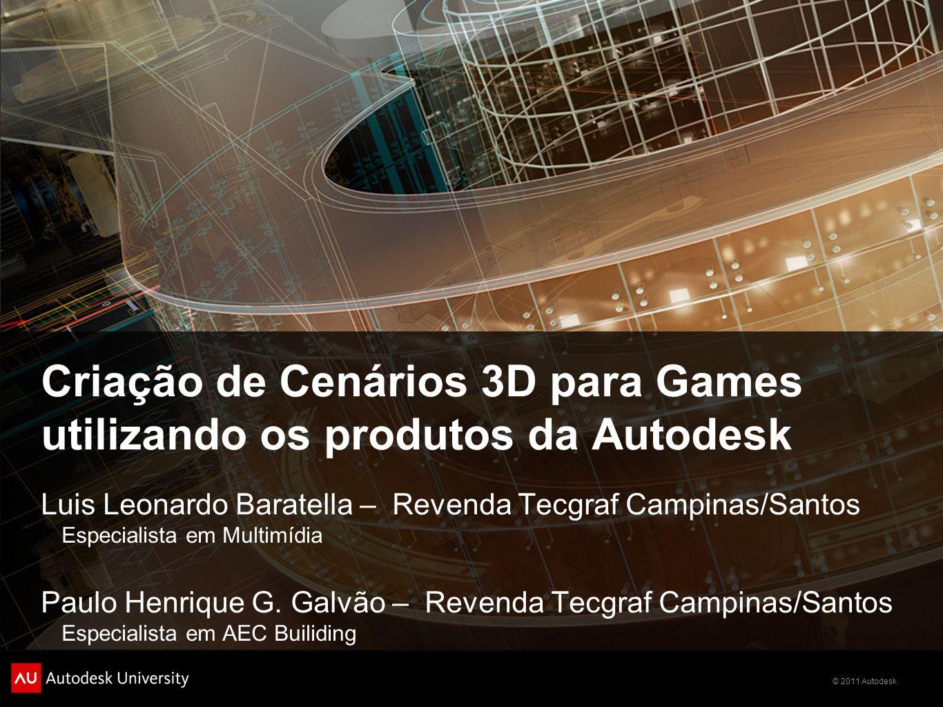 Criação de Cenários 3D para Games utilizando os produtos da Autodesk