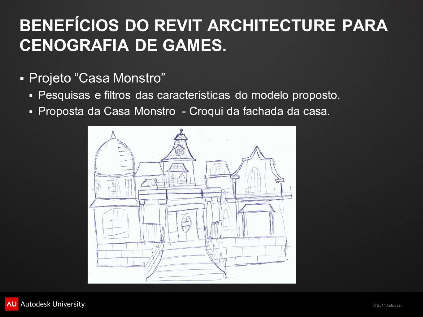 Benefícios do Revit Architecture para Cenografia de Games.