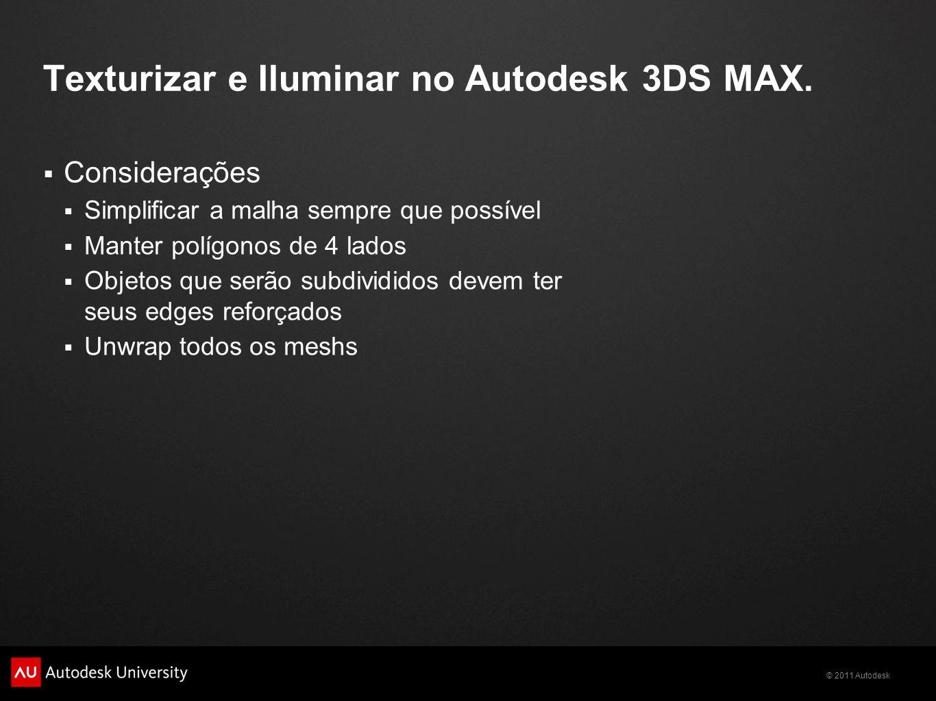 Texturizar e Iluminar no Autodesk 3DS MAX.