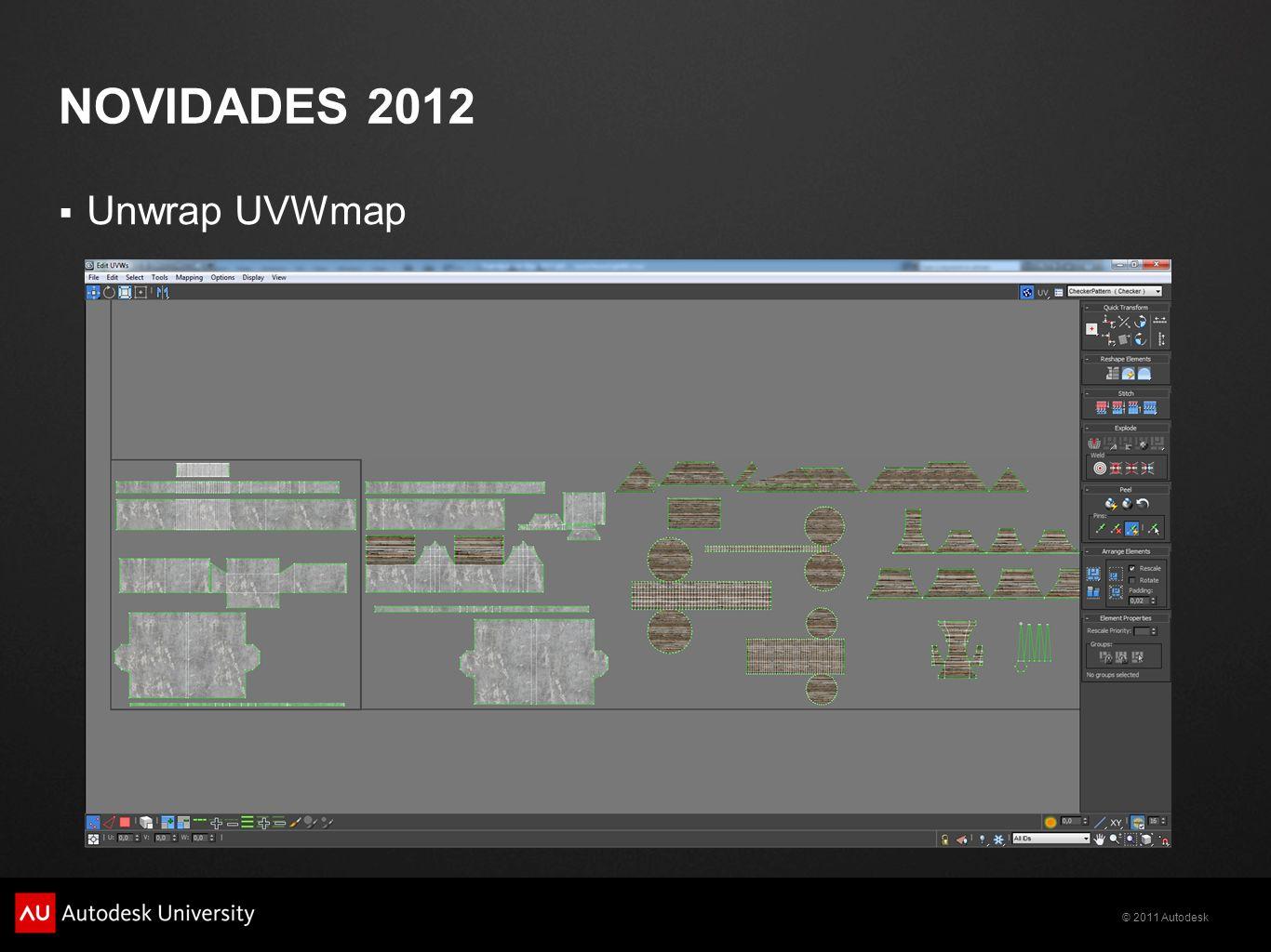 novidades 2012 Unwrap UVWmap
