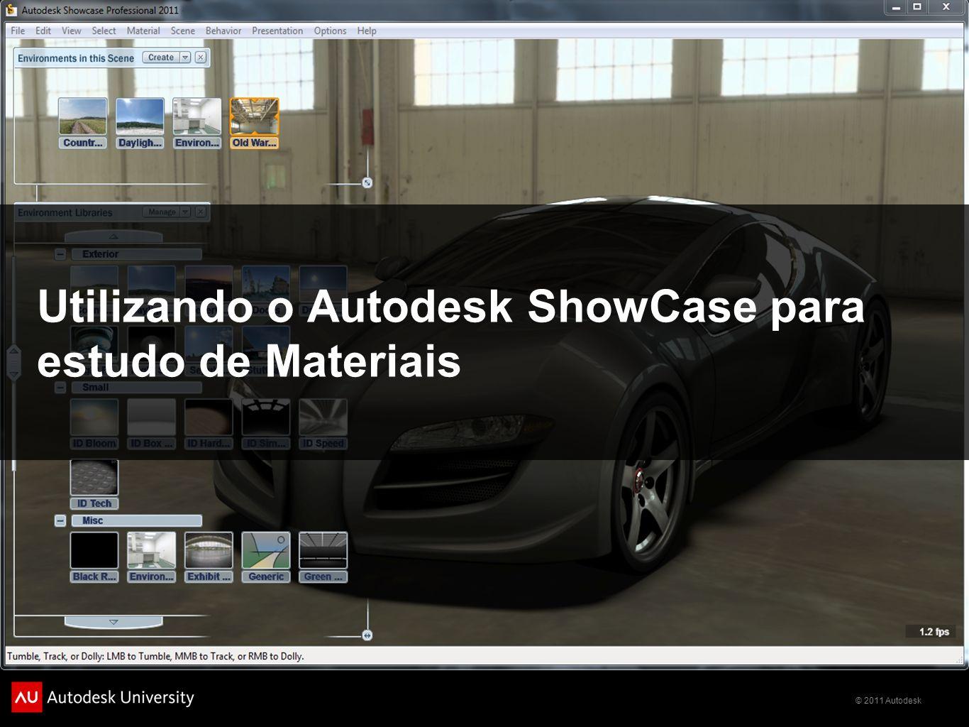 Utilizando o Autodesk ShowCase para estudo de Materiais